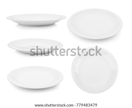 plate on white background - Shutterstock ID 779483479