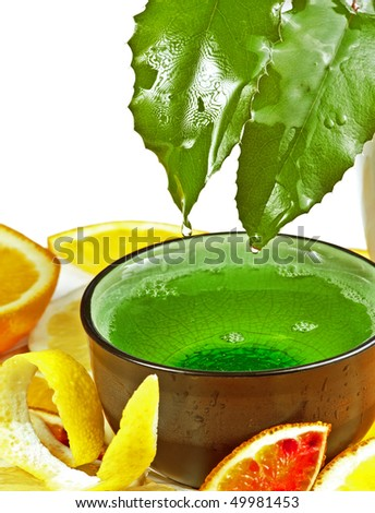 plate with baht oil - stock photo