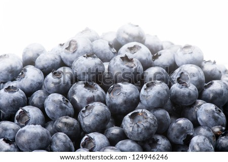 Plate with blueberries