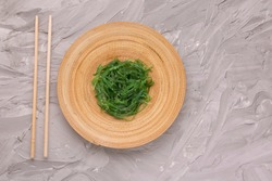 plate with chukka salad on a light background