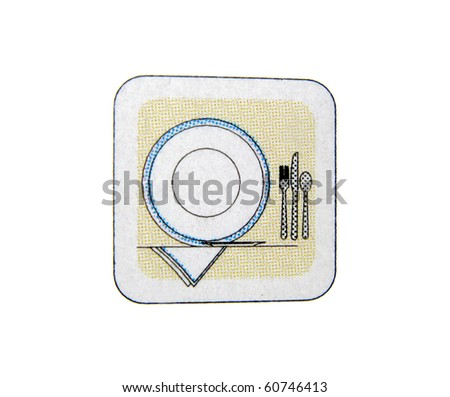 Plate with knife, spoon, silverware and fork