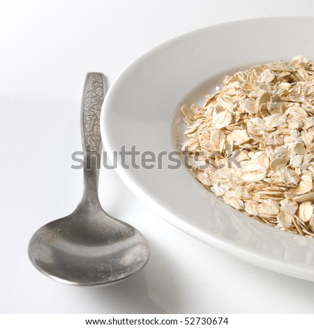 plate with oats