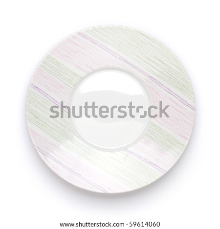 Plate with shadow. Isolated on white background