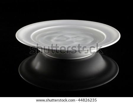 plate with water