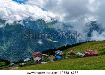 Plateau on Kackar Mountains in Rize, Turkey. #1236816937