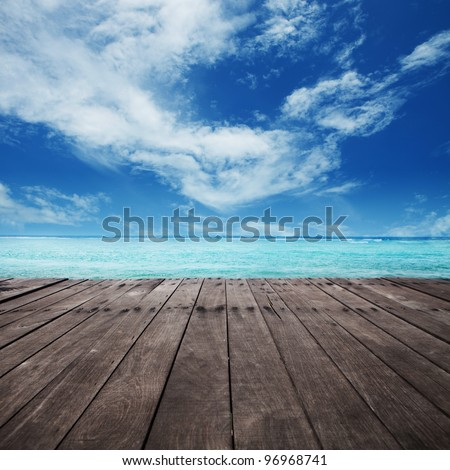 platform beside sea