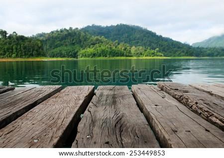 platform  in the lake #253449853