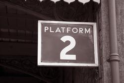 Platform 2 Railway Sign
