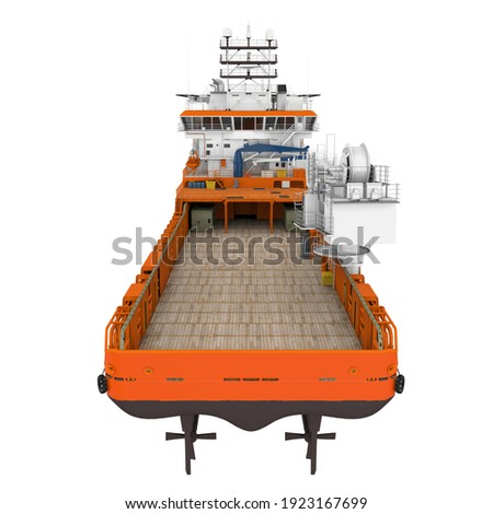 Platform Supply Vessel Ship Isolated. 3D rendering Stock photo ©