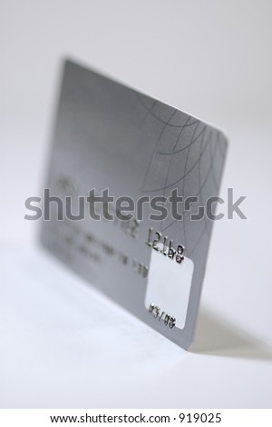 Platinum credit card. Isolated on white background.
