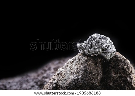 platinum nugget, noble metal, found free in nature in the form of nuggets, used in the production of catalysts Сток-фото ©