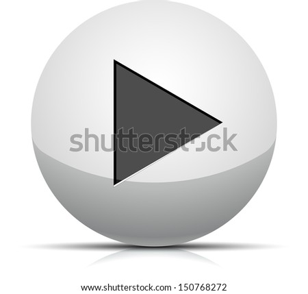 Play button - stock photo