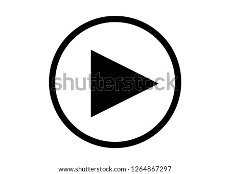 play button is black with white background