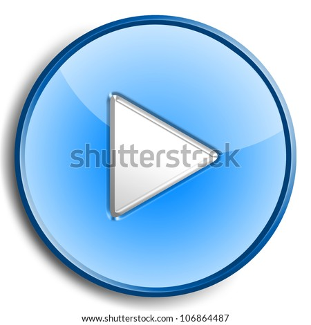 Play button isolated on white