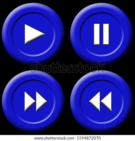Play buttons for user interface. Use these for phones, music sites, video sites or anything that takes your fancy. Check out the different range of colours and styles on my portfolio.