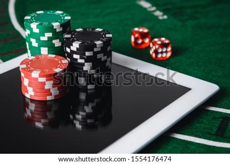 Play poker online. Online casino - online gambling concept