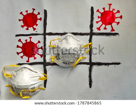 play some tictac corona game Foto stock ©