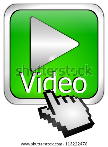 Play video Button with Cursor