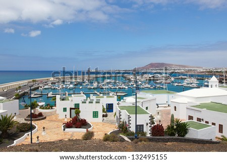Playa Blanca in Lanzarote, Canary islands, Spain.