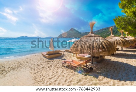 Playa de Formentor (Cala Pi de la Posada ), beautiful beach at Cap Formentor, Palma Mallorca, Spain