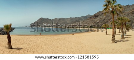 Playa de las Teresitas in San Andres - golden beach on the Tenerife, Canary Islands