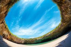Playa del Amor Hidden Beach Islas Marietas Puerto Vallarta Mexico