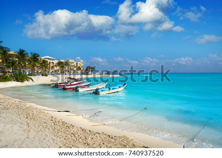 Shutterstock Playa del Carmen beach in Riviera Maya Caribbean at Mayan Mexico