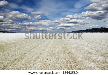 Playa of the Black Rock Desert east of Gerlach Nevada, site of the annual Burning Man festival every Fall.