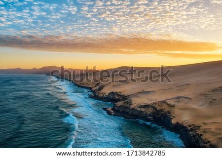 Playa Veril Manso in Jandia National Park, Southern Fuerteventura, Spain Stok fotoğraf ©