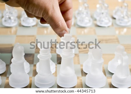Played out in a game of chess