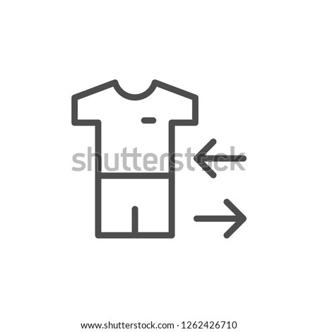 Player substitution line icon isolated on white
