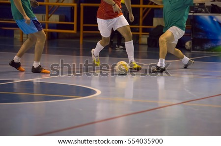 Players in futsal hall #554035900