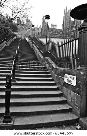 Playfair Steps, Edinburgh, Scotland