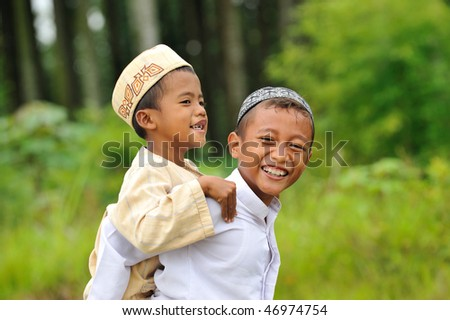Playful Muslims Kids - stock photo