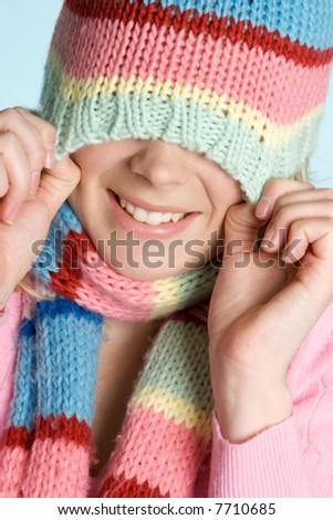 Playful Winter Girl