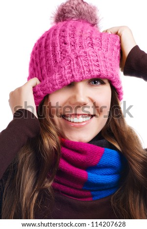 Playful Winter Woman