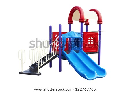 Playground for children isolated on a white