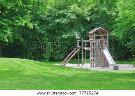 playground in a city park. #77715274