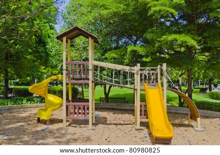 playground in a city park.
