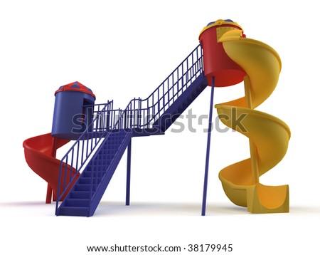 playground on the white background