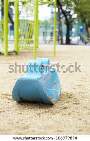 playground set in well-maintained park