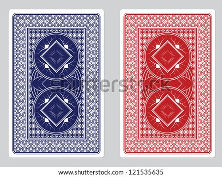 Playing Card Back Designs/Red and Blue Decks