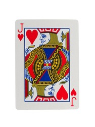 Playing card (jack) isolated on a white background