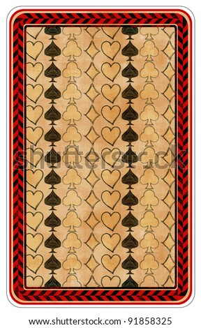 Playing cards - Back of cards