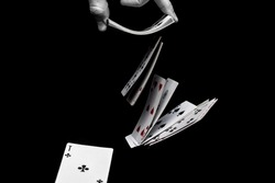 Playing cards/ dark background