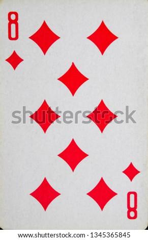 playing cards Map of eight diamonds, suit bubi #1345365845