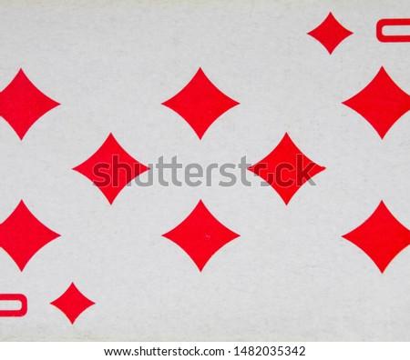 playing cards Map of eight diamonds, suit bubi #1482035342