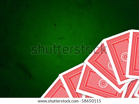 Playing cards over white background - stock photo