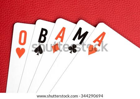 Playing cards with \