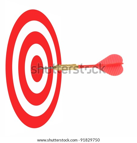 Playing darts isolated against a white background